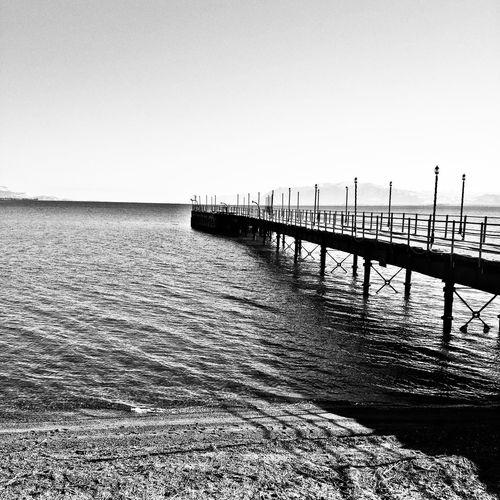 Sea Bridge Blackandwhite Black And White Black & White Beach View First Eyeem Photo