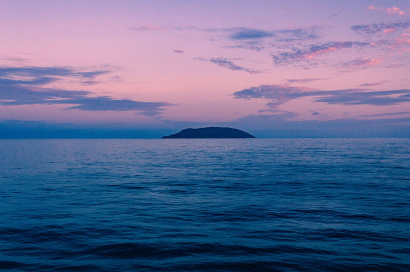Beauty In Nature Horizon Over Water Island Isolated Isolation Loneliness Nature Rippled Scenics Sea Sky Sunset Tranquil Scene Tranquility Water Waterfront