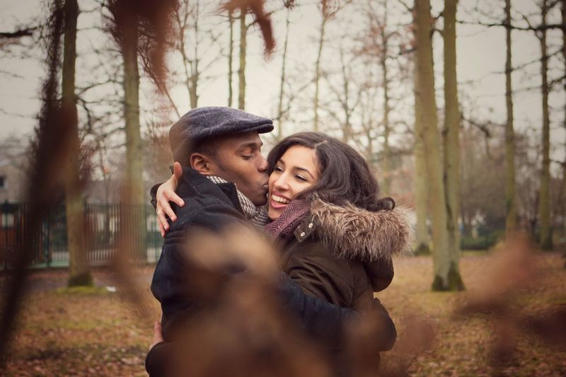 Couple - Relationship Heterosexual Couple Love Two People Young Adult Flirting Romance Dating Young Women Women Valentine's Day - Holiday Adults Only Men Togetherness Affectionate Lifestyles Young Men Young Couple Adult Happiness