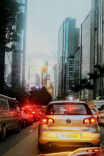 City Skyscraper Transportation City Life Car Traffic City Street Urban Skyline Cityscape Architecture Illuminated Outdoors Lifestyle Causeway Bay Evening Outdoor Photography