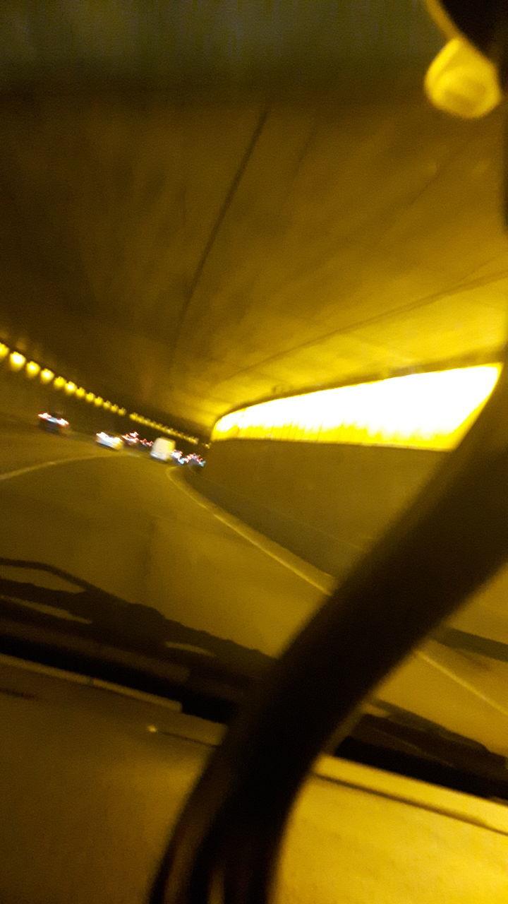 transportation, illuminated, mode of transport, yellow, indoors, no people, close-up, day