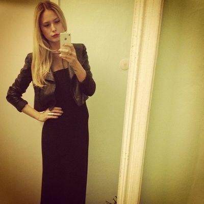 #black #dress #leather #jacket #xmas #dinner #outfit #girly #me Dinner Me Leather Xmas Black Outfit Dress Girly Jacket