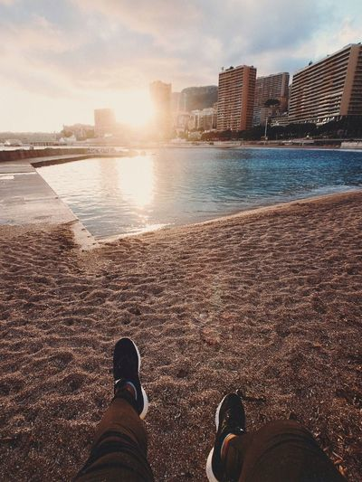Water Architecture Low Section Human Leg Real People City Human Body Part Sky Sea Beach Personal Perspective Lifestyles Men Land Outdoors Building Exterior Shoe Body Part