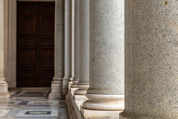 Empty Corridor Of Historic Building