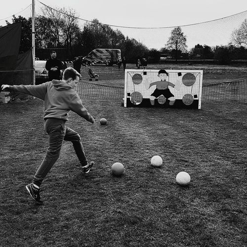 Soccer Children Only Child People Outdoors Boys Childhood One Person Sport Full Length Day One Boy Only Adult