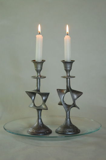 Candle Flame Candles Friday Night Japan Jewish Judaica Religion Religion And Beliefs Shabbos Shabbot White Background