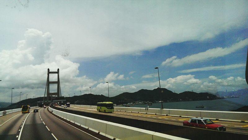 Random Shots Blue Sky I Love Hong Kong