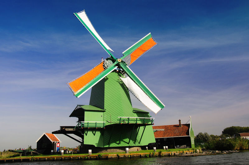 Open Air Museum Public Place Windkraft Windmühle Windmill Mill Holland Niederlande Netherlands Architecture Building Exterior Built Structure Cloud - Sky Day Environment Environmental Conservation Nature No People Outdoors Rural Scene Sky Traditional Windmill Wind Power