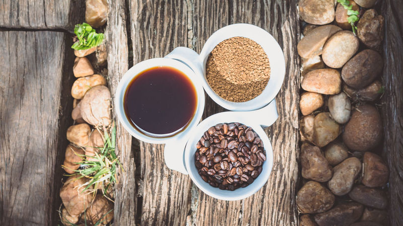 Beans Beverage Breakfast Caffeine Coffee Freshness Green Liquid Nature Wood Black And White Caffè Coffe Coffee Bean Coffee Grounds Food And Drink Freshness Grain Healthy Eating High Angle View Nature Outdoors Rocks Table