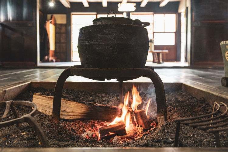 Old woodfire cooking japan