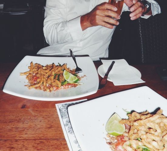 Calamari Entree / Starters Calamari Entree Starters Food Food And Drink Seafoods Fried Food Culinary Meal Plates Table Dinner Pub Cafe Cutlery Hands Showcase July