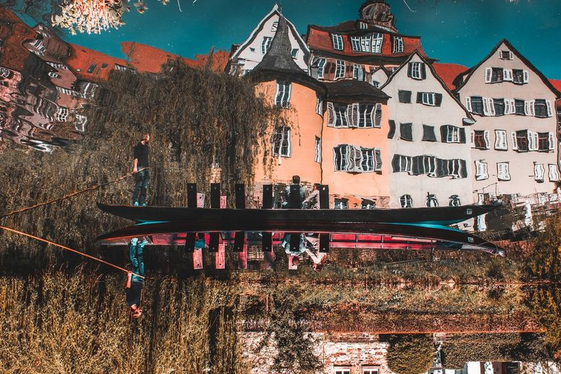 Reflections Reflections In The Water Upside Down Tübingen Spring Germany EyeEm Selects Building Exterior Built Structure Architecture Outdoors Day No People Sport Sky
