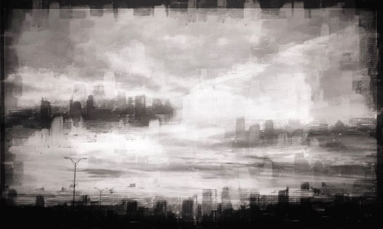 MyCommute Cityscapes Mattroeartist Mattroe Blackandwhite Digital Art Digital Painting