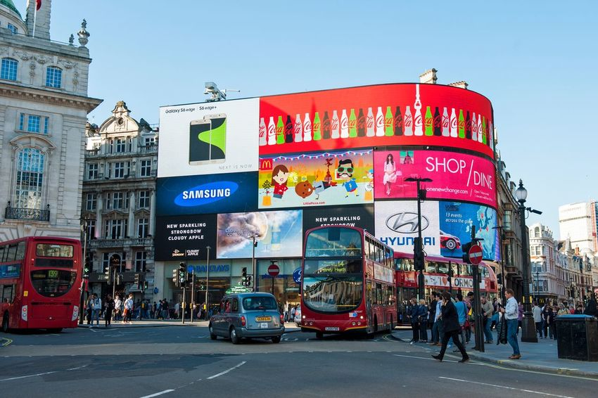 EyeEm LOST IN London Architecture Building Exterior Street City Built Structure Road City Life City Street Outdoors Day Land Vehicle Real People Large Group Of People Sky People London Piccadillycircus