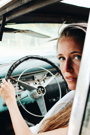 Car Transportation Driving Mode Of Transport Steering Wheel Window Windshield Adult People Looking Through Window Day One Person Young Adult Adults Only Lifestyles Portrait Outdoors Young Women Car Wash Only Women