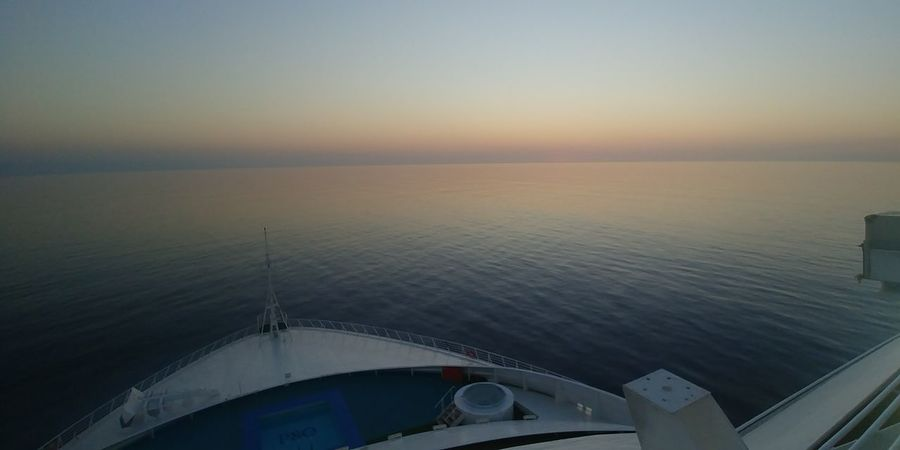 Sea Sunset Travel Destinations No People Sky Horizon Over Water Nature Day Clear Sky Water Ocean Blue Criuse