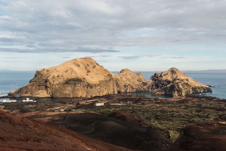 Eldfell Heimaey Iceland Vestmannaeyjar Volcano Landscape Beauty In Nature Cloud - Sky Environment Island Land Mountain Nature Rocks Scenics - Nature Sky Volcano Volcano Eruption
