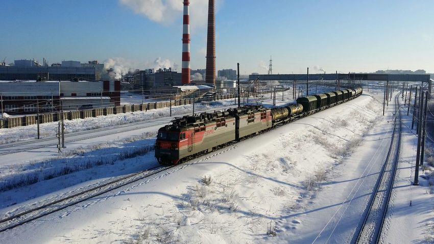 Winter Snow Day Cold Temperature РЖД Train Train Tracks Outdoors First Eyeem Photo