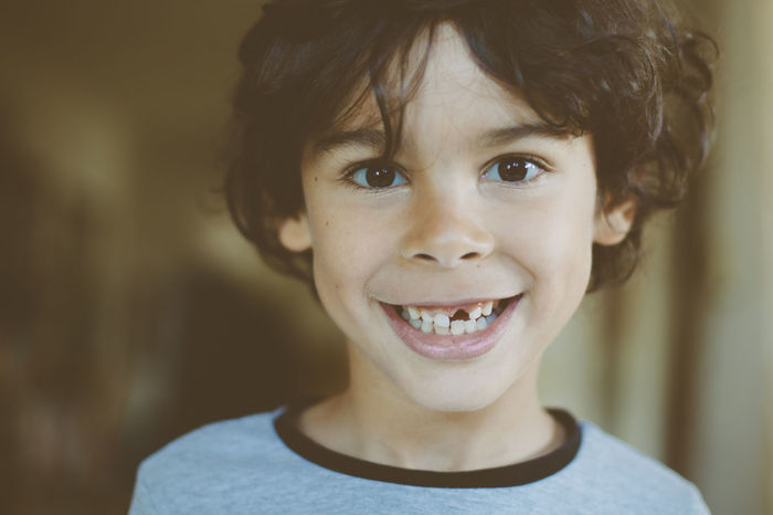 Cheerful Child Childhood Close-up Gap Toothed Happiness Headshot Looking At Camera Missing Tooth One Person Portrait Smiling Teeth Tooth Gap Toothy Smile