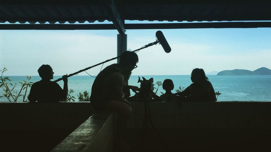 Recording Sea Seaside Taking Photos Shillouette Phuket,Thailand Phuket Thailand Traveling Travelling Travelling Photography IPhoneography Iphonephotography Production Productionlife Sea View Working Working Hard Working Day