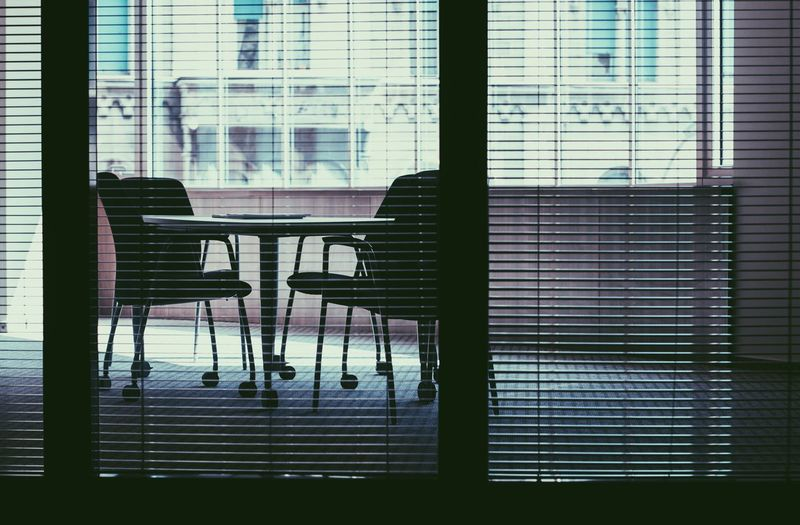 Meeting Office Chair Indoors  No People Office Building Officelife Table Talks Window