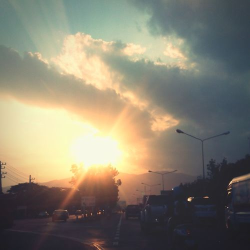 Sunset Road Traffic Jam First Eyeem Photo
