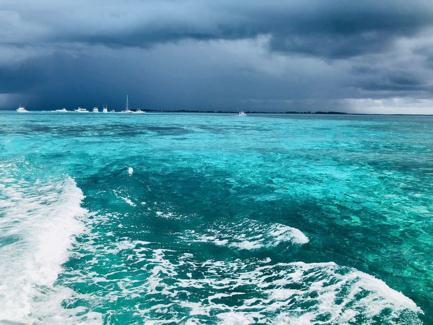 Storm Storm Cloud Water Sea Beauty In Nature Sky Cloud - Sky Scenics - Nature Nature Tranquil Scene Outdoors No People Turquoise Colored Power In Nature