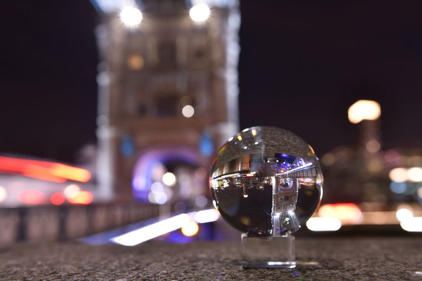 Brücke Cityscape Crystal Ball LONDON❤ London Riverside Sightseeing Tower Bridge  Travel Ball Bridge Bulb Bulbs Close-up Focus On Foreground Illuminated Kristallkugel Kugelfoto Langzeitaufnahme Langzeitbelichtung Langzeitbelichtung✔ Night No People Riverside Photography Travel Destinations