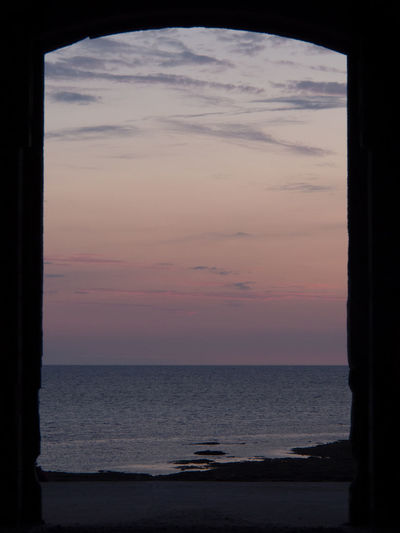 Scenic view of sky seen through window