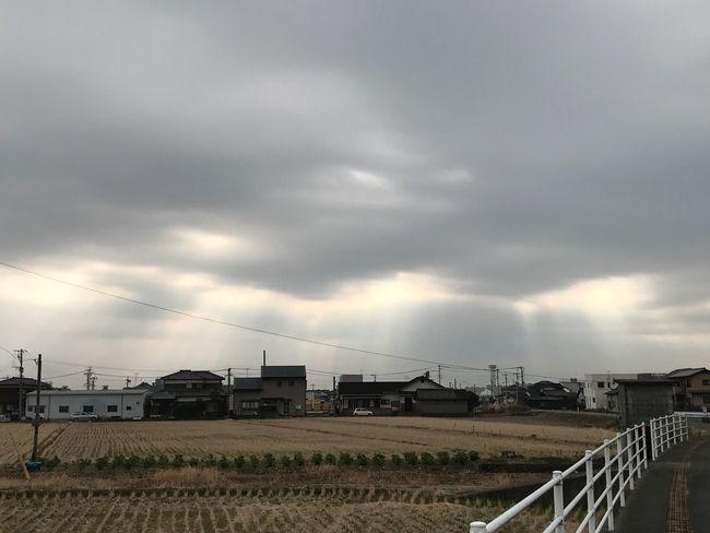 出足が遅れた❣️外を歩いたり、走ったり🏃♀️ Sky Cloud - Sky Electricity  Built Structure No People Architecture Grass Outdoors Nature Storm Cloud Day Hello World Behappy Love Fukuoka Iphone7 2017 Japan ダイエット ランニング ウォーキング 筋トレ Gym 1月