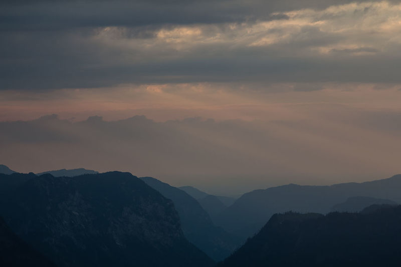Dramatic sky over mountains