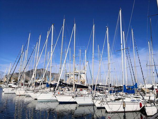 Water Nautical Vessel Blue Sea Sky Boat Water Vehicle Sailing Boat Marina