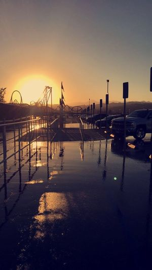 Sommergefühle Sunset Water Sky Reflection Outdoors Nature Tranquility Beauty In Nature Clear Sky Day Summertime Illuminated Sixflags