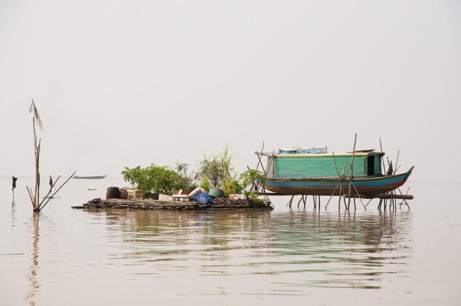 Tonle Sap Lake - Cambodia Cambodia Tonle Sap Floating House House Lake Stilt Tonle Sap Lake