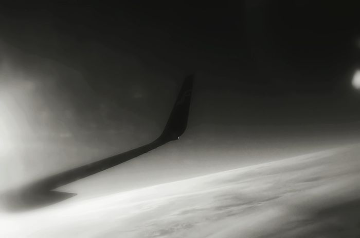 Black And White Blackandwhitephotography Monochrome Hello World Finnair Beijing Barcelona Cielo Y Nubes  Aviation