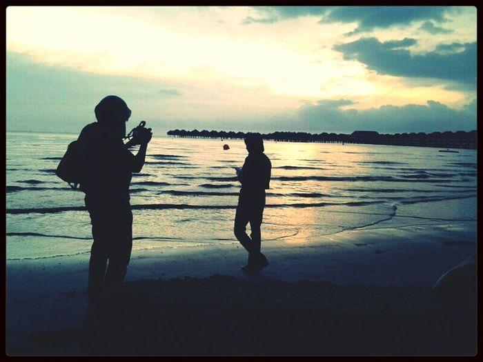 Sunset... Beach Hangout Photoshoot