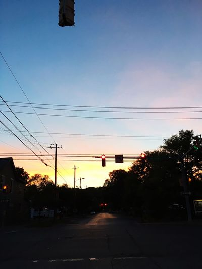 I contemplate life at red lights. Sunset Sky Street Red Light