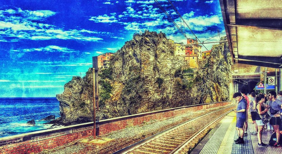 Train Station Scenic Coast Coastline Cinque Terre Liguria Italy Italia Old Town Mediterranean  Summer Hanging Out 43 Golden Moments Cityscape Skylines