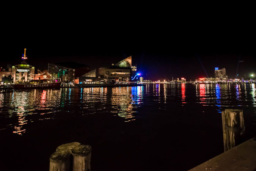 Baltimore Baltimore Harbor Baltimore Maryland Irix 15mm Maryland Architecture Building Exterior Built Structure City Clear Sky Cufotos Illuminated Light City Light City Baltimore Nature Nautical Vessel Night No People Outdoors Reflection River Sky Travel Destinations Water Waterfront