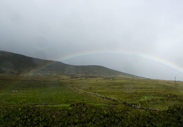 Azores EyeEm Nature Lover EyeEmNewHere Portugal São Jorge Beauty In Nature Day Double Rainbow Field Landscape Mountain Nature No People Outdoors Rainbow Rural Scene Scenics Sky Tranquil Scene Tranquility