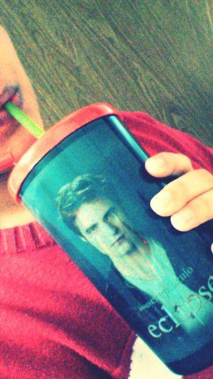 Just Silly... Dtox Juice on my Edward Cullen Cup u_u