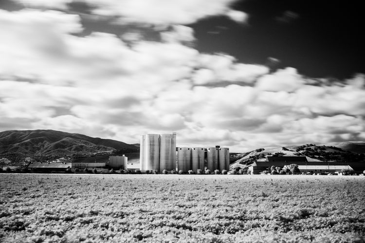 California Dreamin Industrial Architecture Blackandwhite Blackandwhite Photography Built Structure Cityscape Cloud - Sky Day Growth Industrial Landscapes Modern Sky