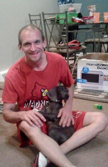My love and My baby slate Weimaranerpuppy Weimaraner Mom Puppy Love