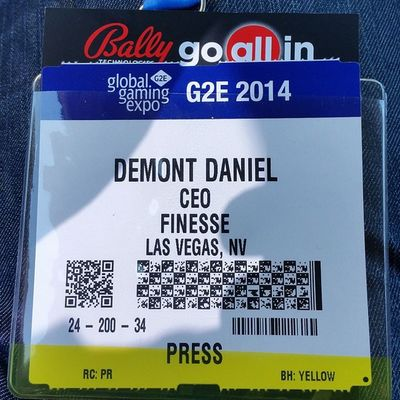 Pretty awesome when I go to pick up my Press pass, the @g2evegas staff knows who @finesselv is and says they can't wait to see more Events from us. They don't have to wait too long! @compbottles Vegas  G2e14 g2e2014