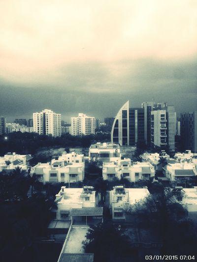 Just before raining in early morning at Ahmedabad.. Ahmedabad Safal Profitaire Pinnacle Prahladnagar