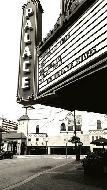 》Madelyn Roberson《 Sepia Movie Theatre  Old Buildings Plaza Outside