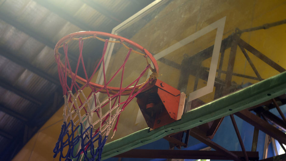 Basketball Basketball - Sport Basketball Ring Built Structure Close-up Day Industry No People Outdoors Technology