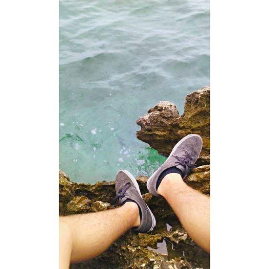 Sì, vado con le scarpe sugli scogli Nuvoloso Cloud Mare Summer Croazia Vans Scogli Cliff Sea Water Blu Green