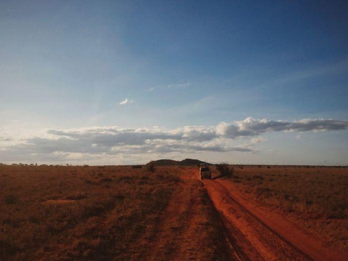 Tsavo, Kenya. Landscape The Way Forward Nature Beauty In Nature Travel Adventure EyeEm Best Edits Africa Travel Destinations Kenya VSCO EyeEm Best Shots Transportation