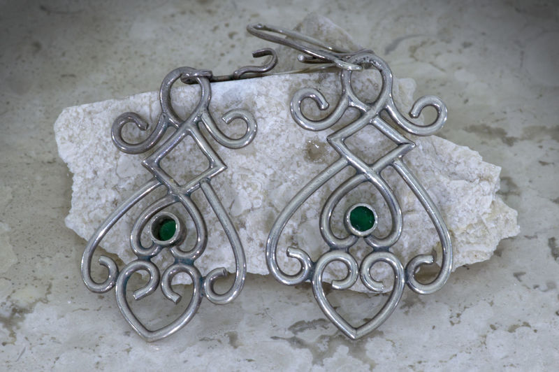 Earrings Abundance Art And Craft Choice Close-up Creativity Group Of Objects Metal Old Pattern Representation Silver  Silver Jewellery Variation Yewellery